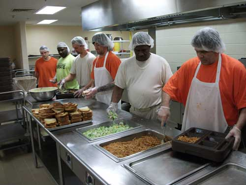 Inside the taylor county detention center kitchen